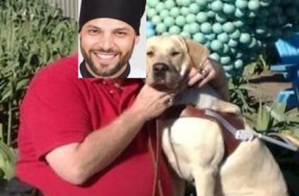 señor con perro