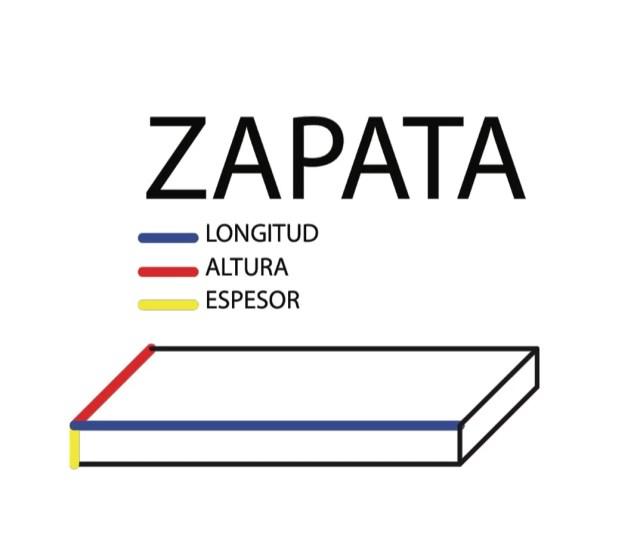 Calculadora de concreto - Zapata