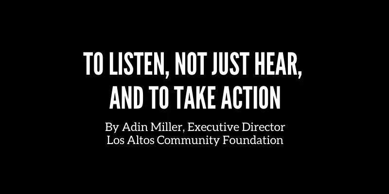 to listen not just hear and take action logo