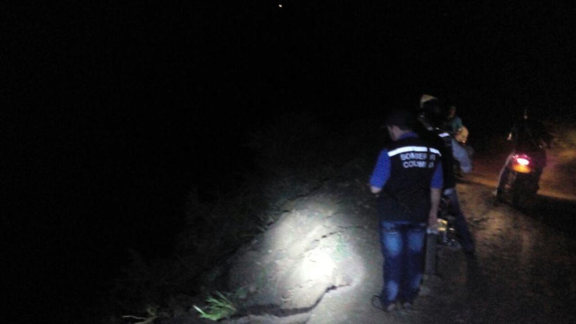 Volqueta se fue al abismo en Capitanejo Santander
