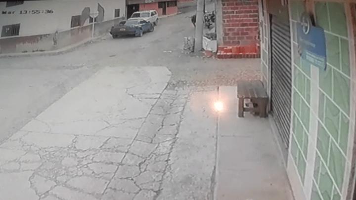 (Vídeo) Que susto se llevaron varios habitantes de Carcasí Santander