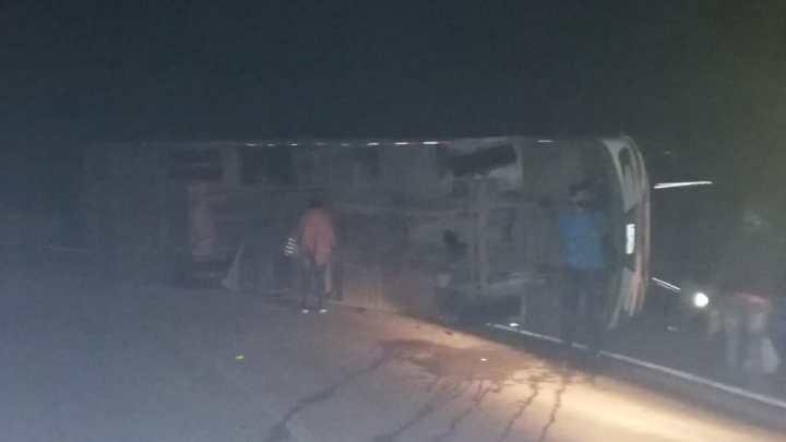 Atención, accidente se presentó anoche con un bus de Cotrans en la vía Curos Málaga