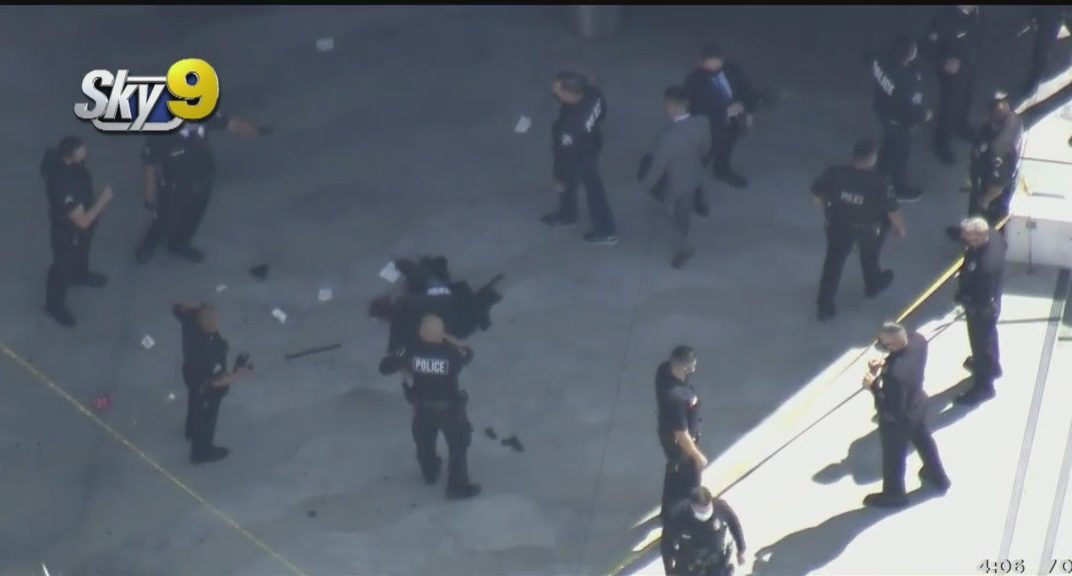Breaking News: LAPD Officers Shoot Allegedly Armed Man Outside Olympic Station 3/23/21