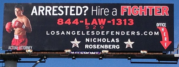 billboard above law office