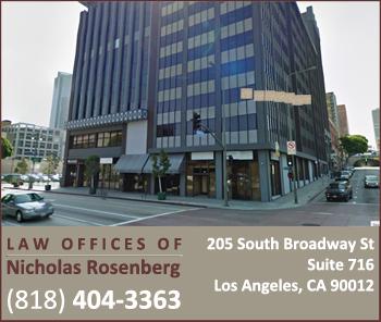 The Law Offices ofNicholas Rosenberg | Nicholas Rosenberg, Esq. | Call 818-404-3363