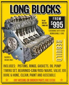 Engine rebuilding for Long Blocks