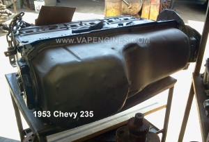chevy gm 235 , 6 cyl engine rebuild. finished rearview