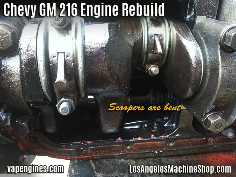 GM 216 Conrod dippers bent?