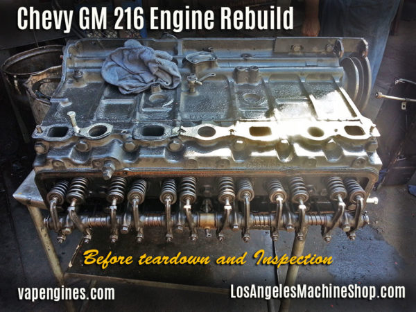Chevy GM 216 Before Engine Rebuild