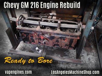 GM 216 engine block bore