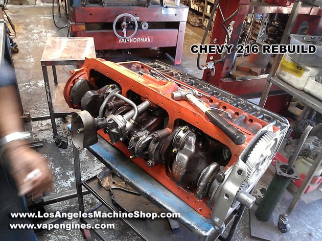 Rebuilt remanufactured Chevy 216 engine builder in Los Angeles. Rebuild Your Chevy GM 216 Engine Here