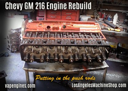 GM 216 engine assembly
