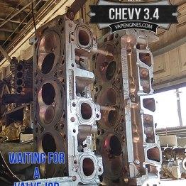chevy 3.4 cylinder head valve job project.
