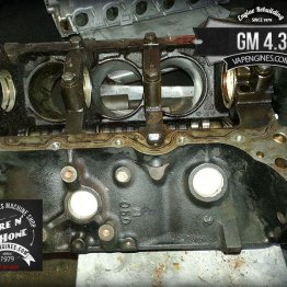 GM 4.3 engine block boring