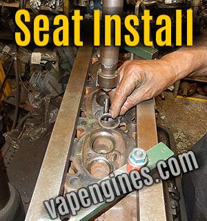 Install valve seats on cylinder head