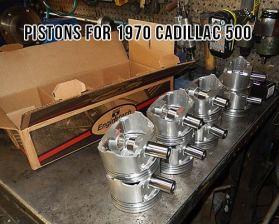 1970 Cadillac Eldordado 500 8.2 V8 pistons