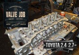 Toyota cylinder head valve job prep