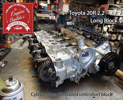 attach cylinder head to Toyota 20R