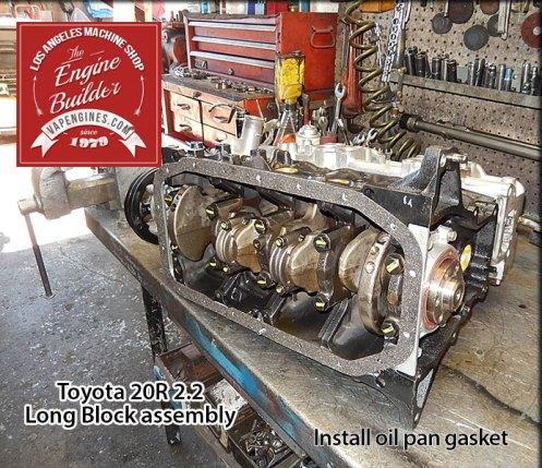 attach oil pan gasket toyota 20r