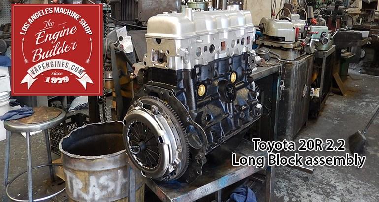 Rebuilt Toyota 20R engine shop
