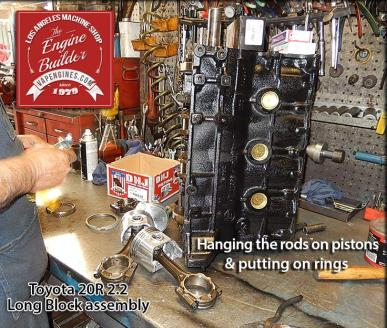 Toyota 20R build short block engine