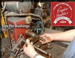 size pin bushing on rod