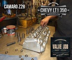 Valve job Camaro Z28 LT1 350 heads