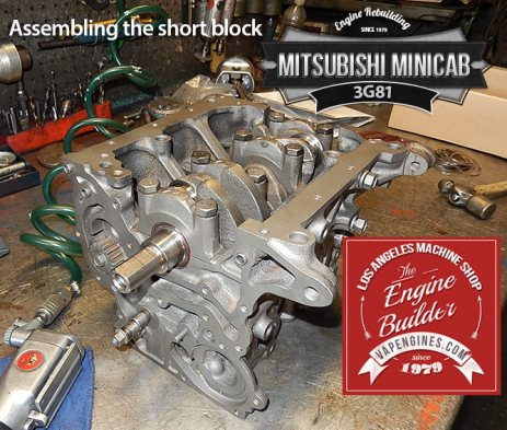Mitsubishi minicab block and crank