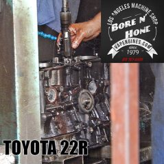 Toyota 22R in the honing machine