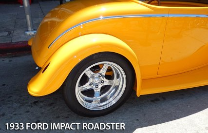 Cool wheel well and tire on roadster