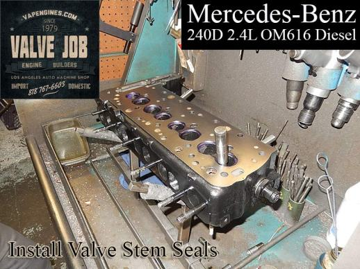 mercedes 240d 2.4 install valve stem seals