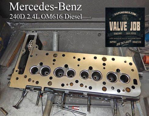 mercedes 2.4 240d cylinder head