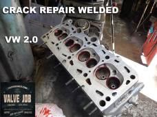 vw 2.0 cylinder head crack repair