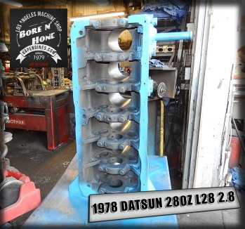 bore and honed datsun 280z inline 6 block