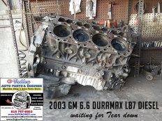 03 gm 6.6 lb7 duramax engine teardown