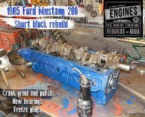 Short block assembly Ford 200