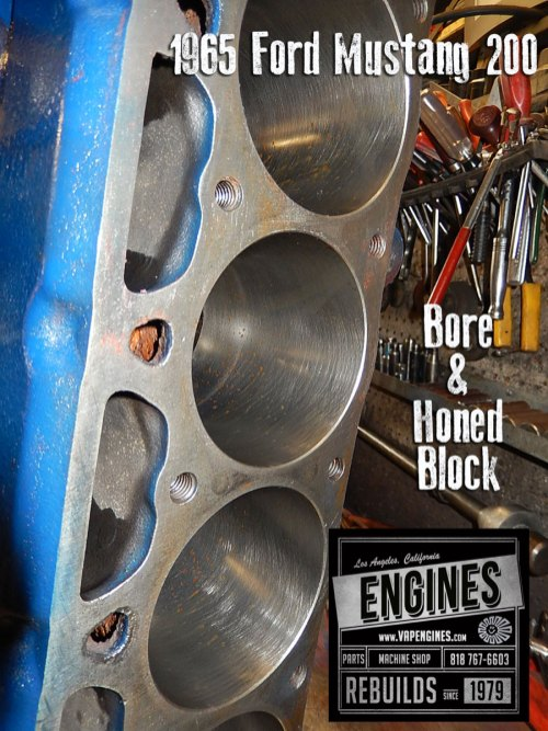 bore and honed 65 ford 200 I6 cylinders