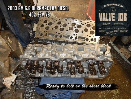 GM 6.6 32v cylinder head valve job
