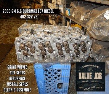 Remanufactured gm 6.6 lb7 32v diesel cylinder heads