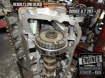 Timing marks on rebuilt Dodge 4.7 HO engine