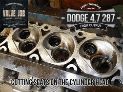 Cutting seats on Dodge 4.7 HO cylinder heads