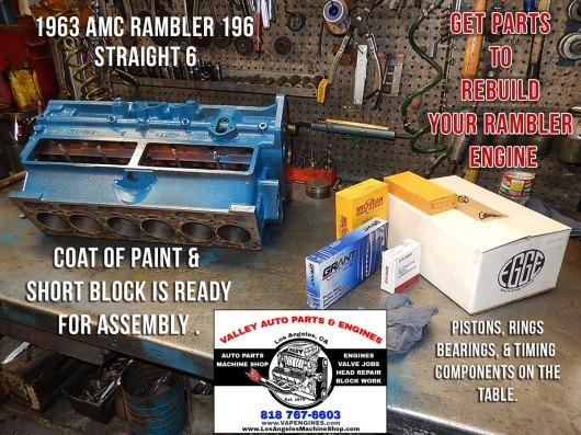 AMC Rambler 196 engine rebuild parts