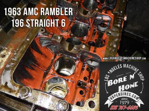 honing AMC Rambler 196 engine block