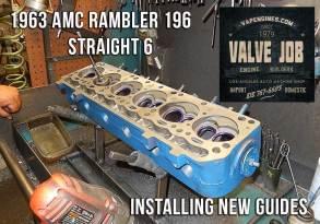 Installing guides on AMC Rambler cylinder head