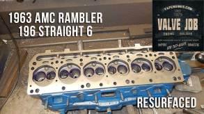 resurfaced amc rambler 196 cylinder head