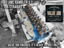 cylinder head repair 63 amc rambler 196 I6