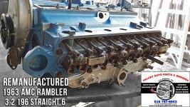 rebuilt 1963 AMC Rambler 3.2 engine