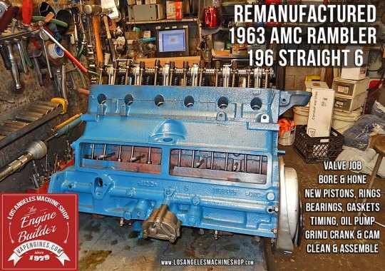 long block amc rambler 196 engine
