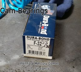 61 Mercury Comet 170 cam bearings