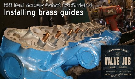 Install brass guides 61 Comet 170